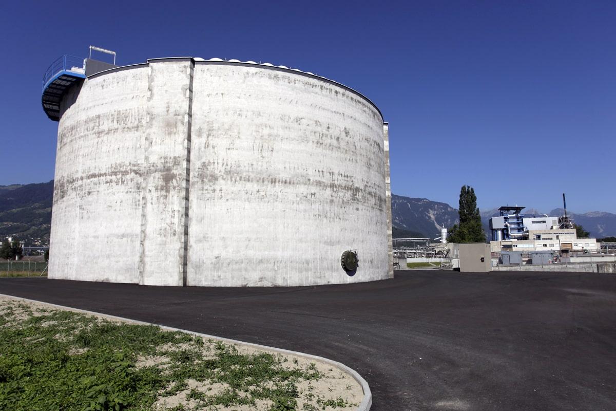 Réservoir tampon / station d'épuration (STEP) de CIMO à Monthey