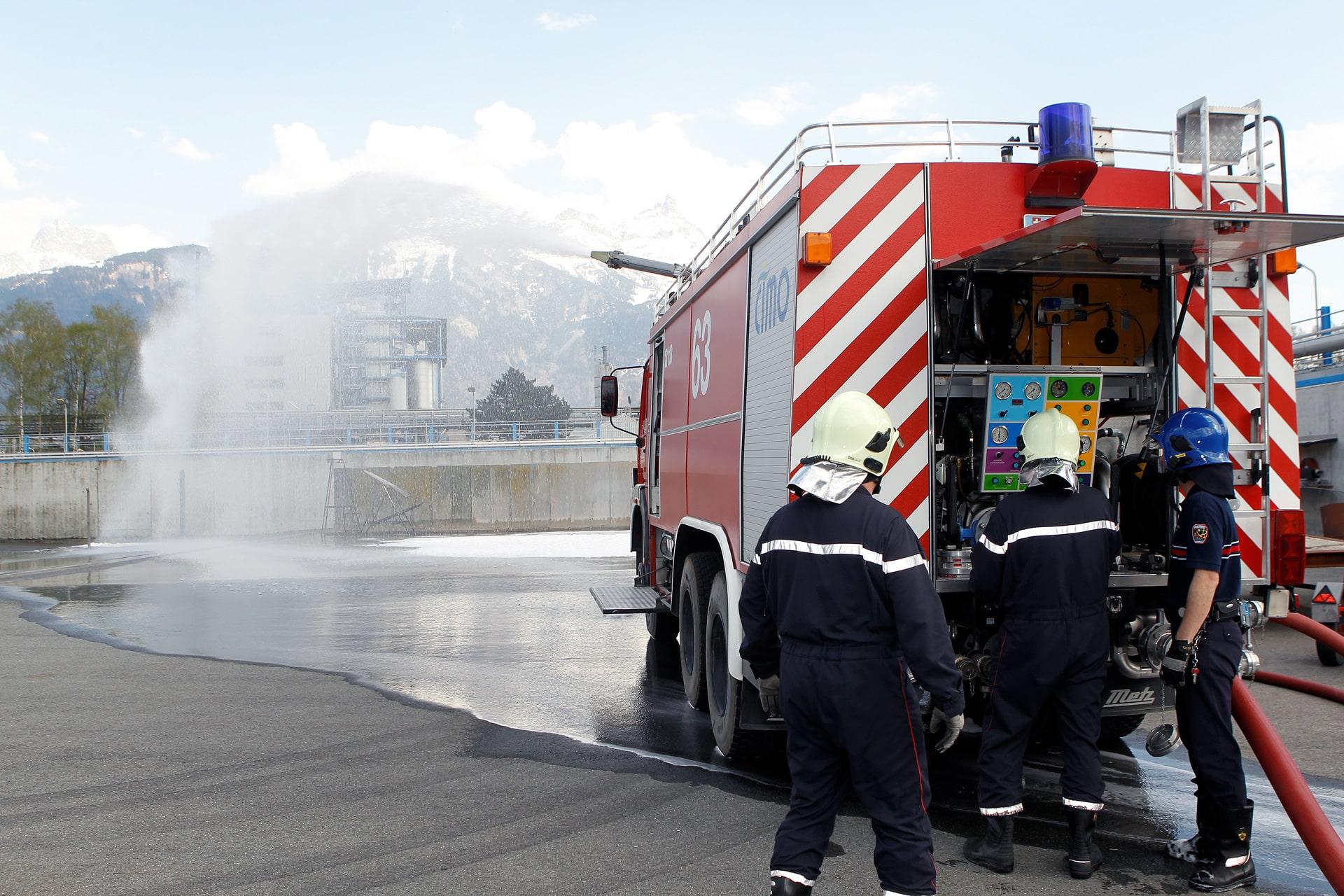 Sapeurs-pompiers professionnels / Service Protection Site de CIMO à Monthey