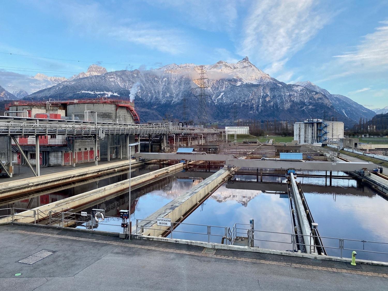 Bassins biologiques / station d'épuration (STEP) de CIMO à Monthey